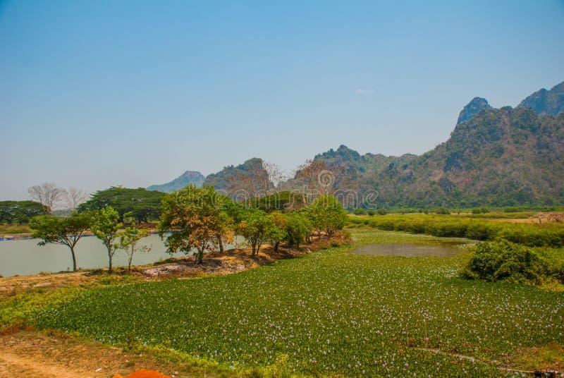 Download 地方的美好的风景顶视图在城市毛淡棉, Hha-an附近的 缅甸 缅甸 库存图片 - 图片 包括有 天空, 主要: 72354343