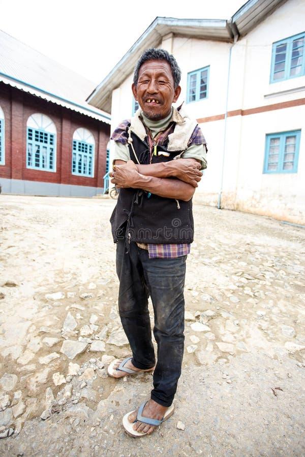 地方缅甸人在Falam,缅甸(缅甸) 免版税库存图片