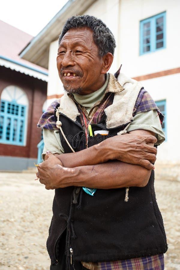 地方缅甸人在Falam,缅甸(缅甸) 免版税库存照片