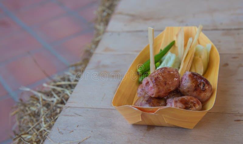 地方Thai& x27; s街道食物 免版税库存图片