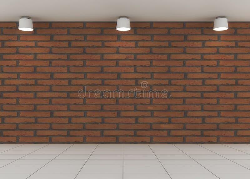 地板、墙壁和光 库存例证