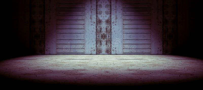 地板和墙壁背景 向量例证