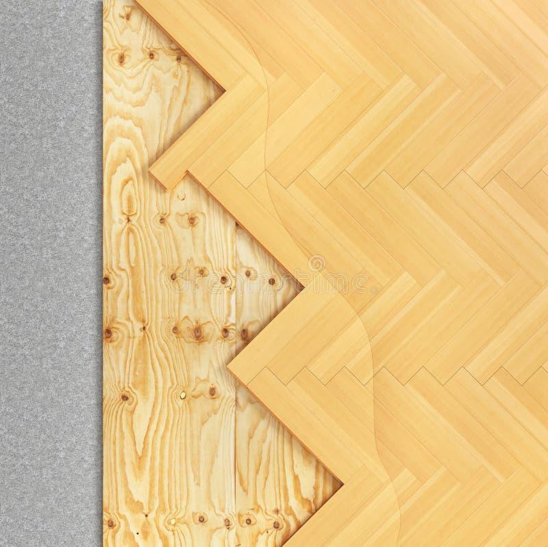 地板层数 镶花地板 免版税库存照片