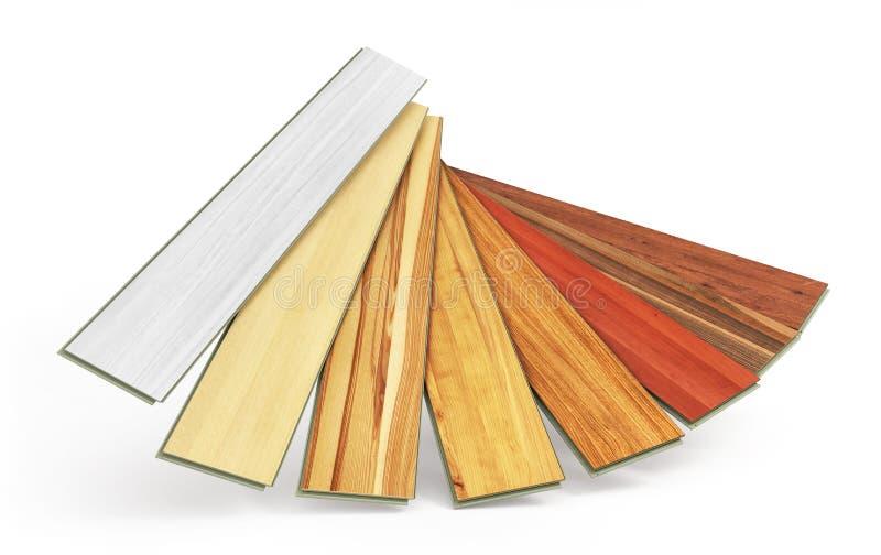 地板涂层 用不同的纹理的层压制品 库存例证