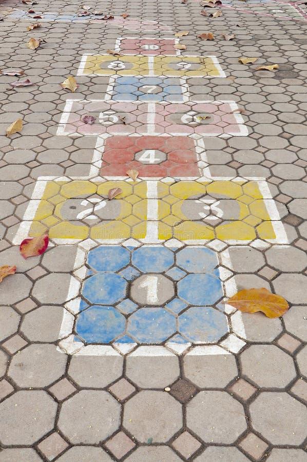 地板的纹理在学校 免版税库存图片