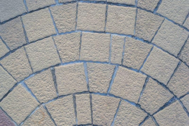 地板石岩石砖样式背景 免版税库存图片