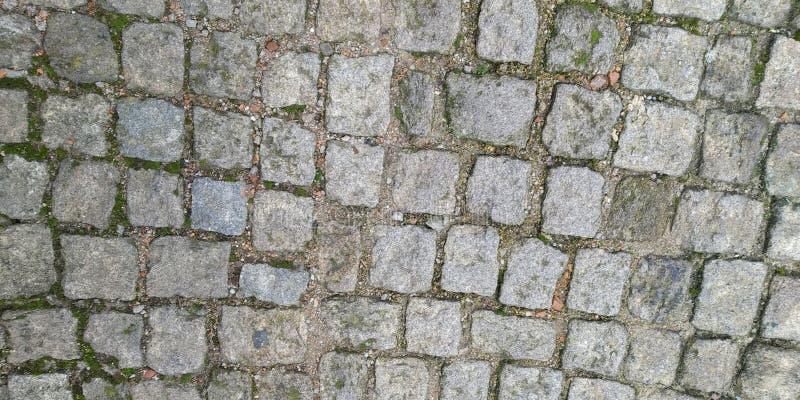 地板纹理与边路石头的 免版税库存照片