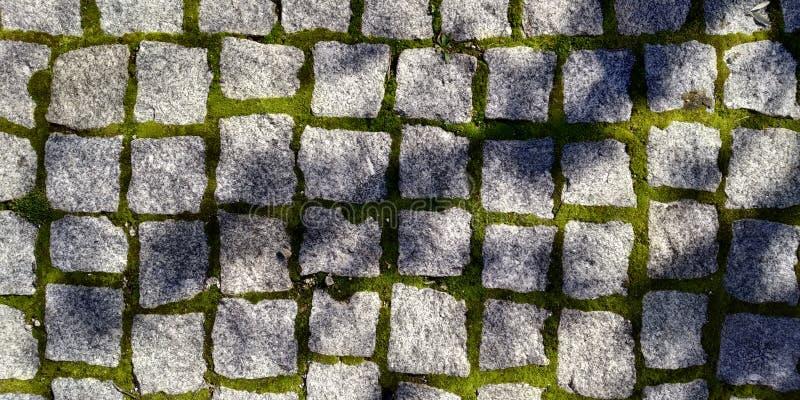 地板纹理与边路石头的 库存照片
