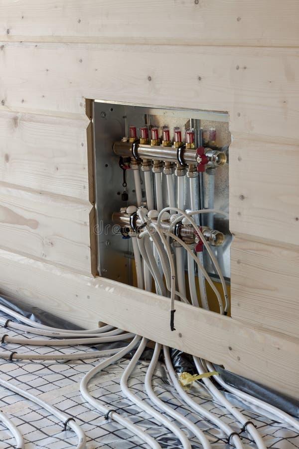 地板采暖系统 库存图片