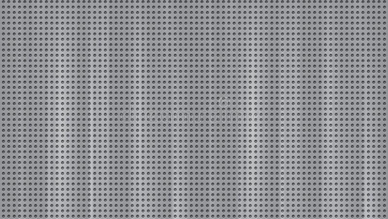 地板铝,地面钢在巨额的钻子小孔 库存例证