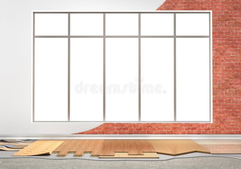 地板键入涂层 地板设施 皇族释放例证