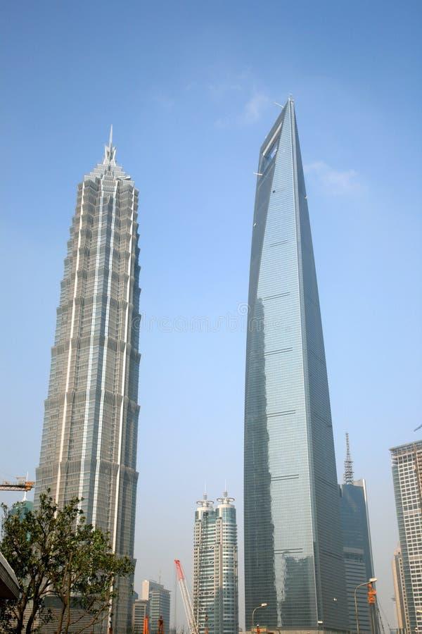 地标现代上海 库存照片