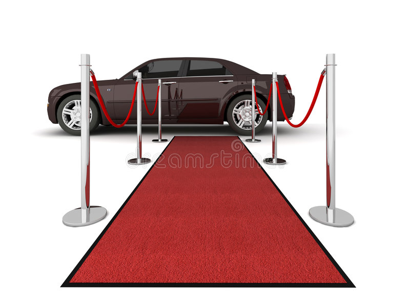 地毯例证大型高级轿车红色 向量例证