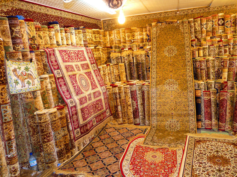 地毯做的现有量豪华 免版税库存照片