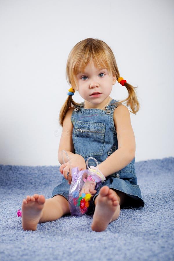地毯儿童使用 库存图片