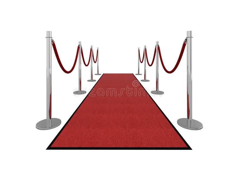 地毯前例证红色图vip 库存例证