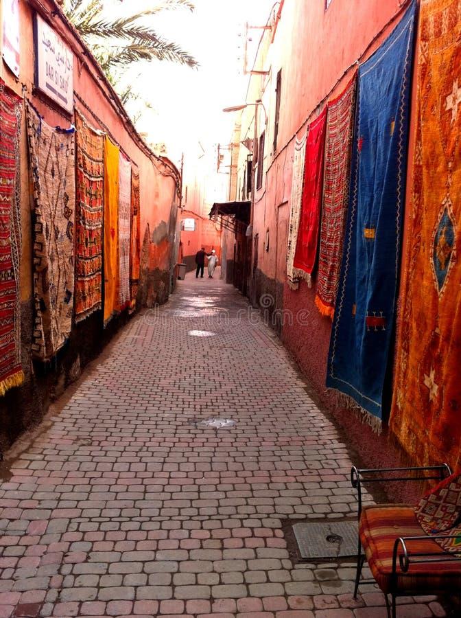 地毯在马拉喀什 库存照片