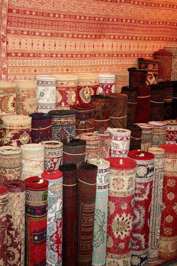 地毯市场土耳其 免版税图库摄影