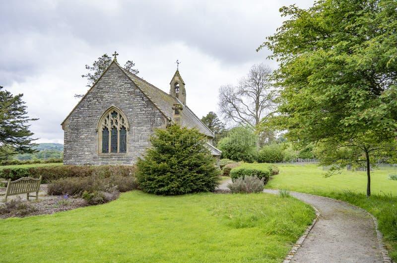地毯教堂, Corwen, Denbighshire,威尔士 免版税库存照片