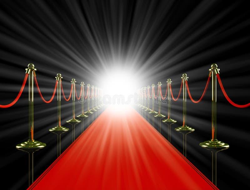 地毯晚上红色 皇族释放例证