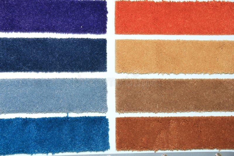 地毯样片在商店 免版税图库摄影