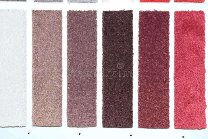 地毯样片在商店 免版税库存照片
