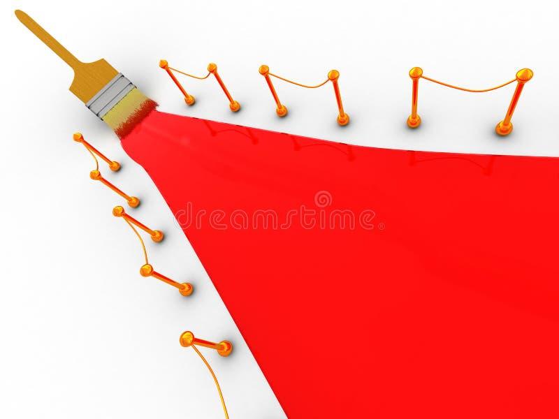 地毯油漆红色 向量例证