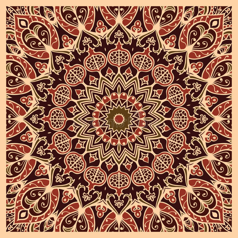 地毯的东方样式 皇族释放例证