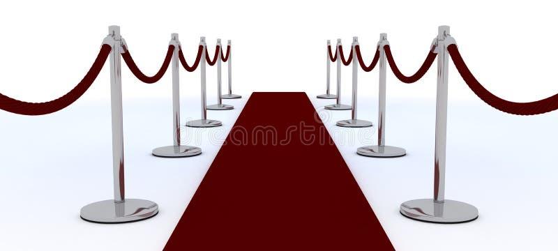地毯红色绳索天鹅绒 向量例证
