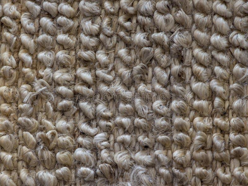 地毯纤维特写镜头 抽象背景灰棕色 图库摄影