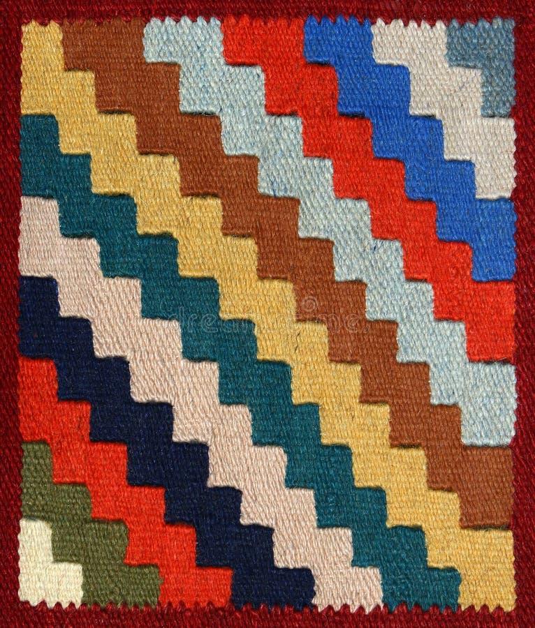 地毯织品几何装饰品模式 库存照片