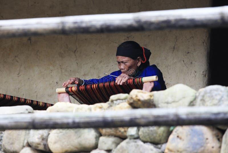 地毯编织 免版税库存照片