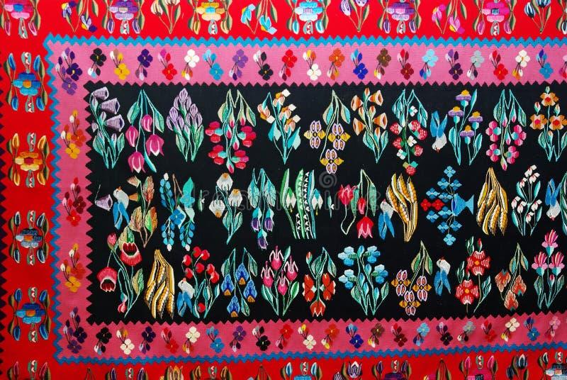 地毯罗马尼亚传统 图库摄影
