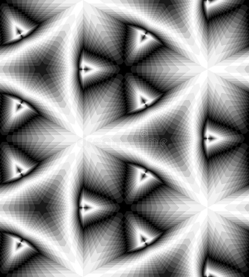 轻轻地淡光从光到黑暗的口气和减少朝中间的长方形造成深度和容量幻觉  库存例证
