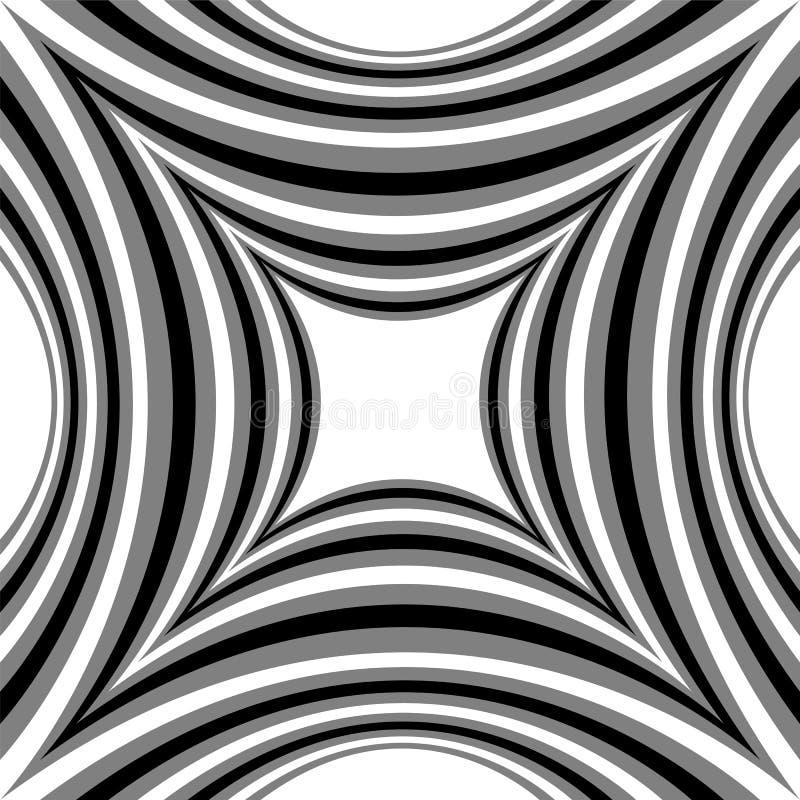 轻轻地淡光从光的凹面长方形的单色条纹图形到黑暗 视觉容量作用 多角形几何 皇族释放例证