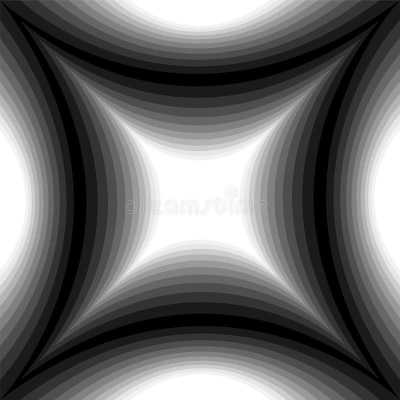 轻轻地淡光从光的凹面长方形的单色样式到黑暗 视觉容量作用 多角形几何摘要 皇族释放例证