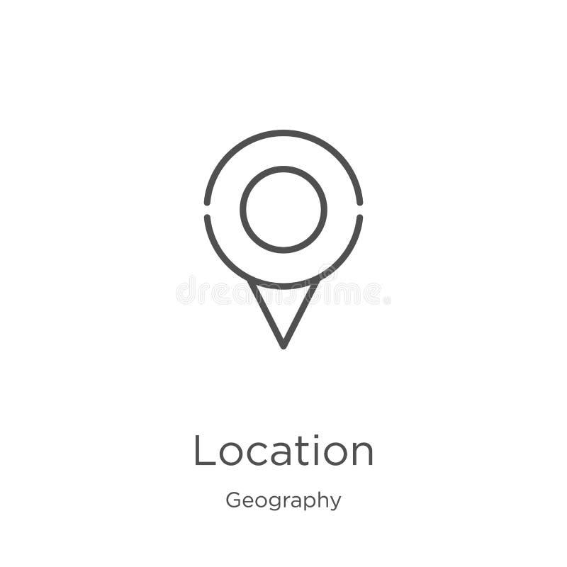地点从地理汇集的象传染媒介 稀薄的线地点概述象传染媒介例证 概述,稀薄的线地点 皇族释放例证