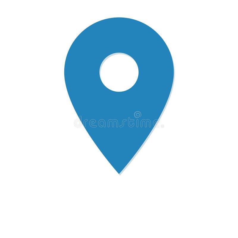 地点传染媒介象,在白色背景的占位符标志 库存例证