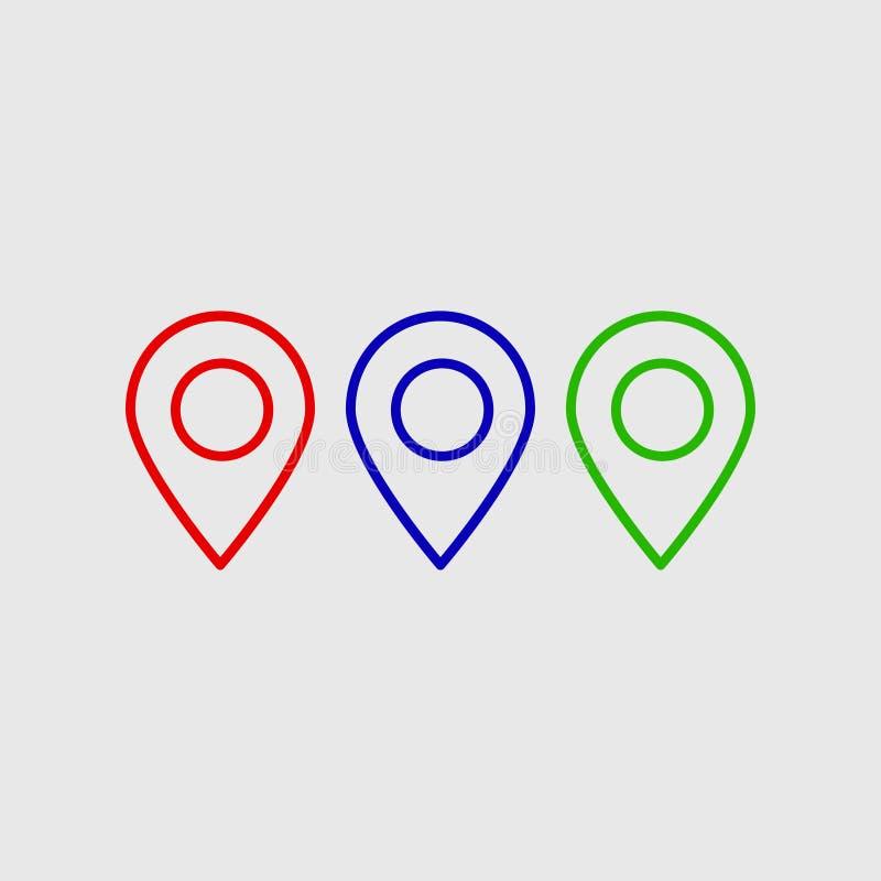 地点传染媒介象 安置标志 GPS图表,平的传染媒介标志隔绝了 图表和网的简单的传染媒介例证 皇族释放例证