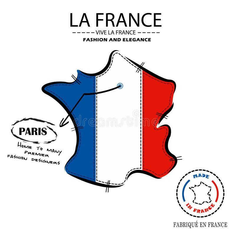 巴黎地点传染媒介的法国时装商店 皇族释放例证