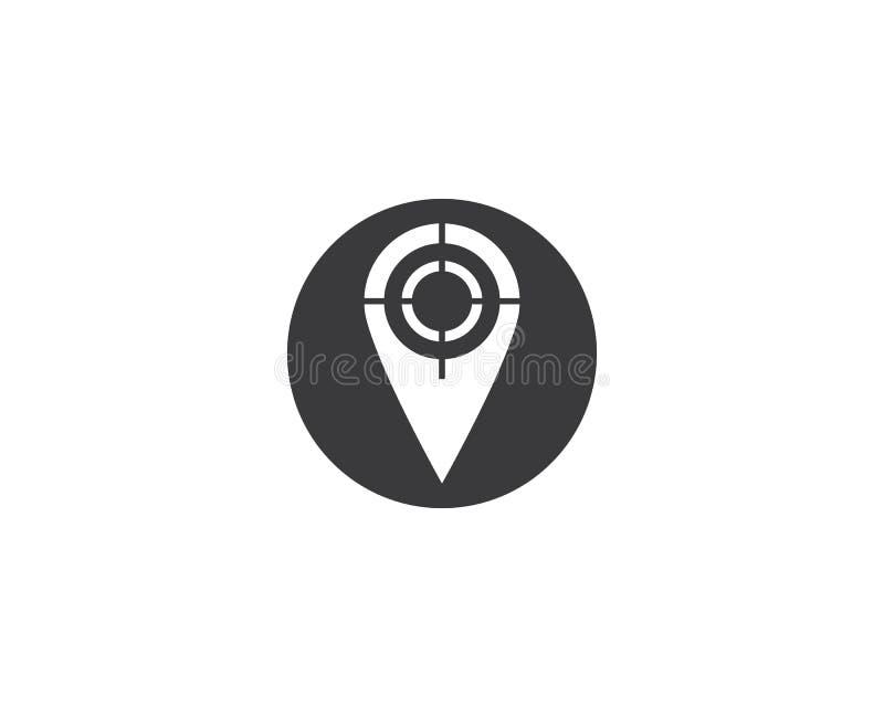 地点点商标模板传染媒介象例证设计 皇族释放例证