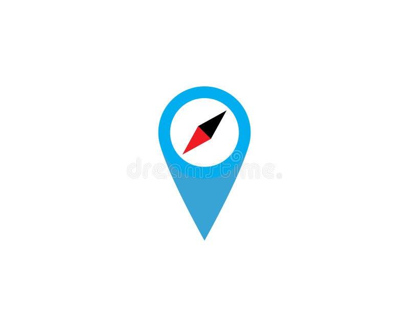 地点点商标模板传染媒介象例证设计 库存例证