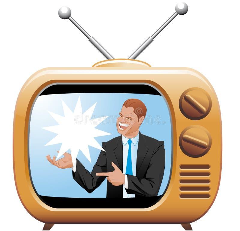 地点电视 向量例证