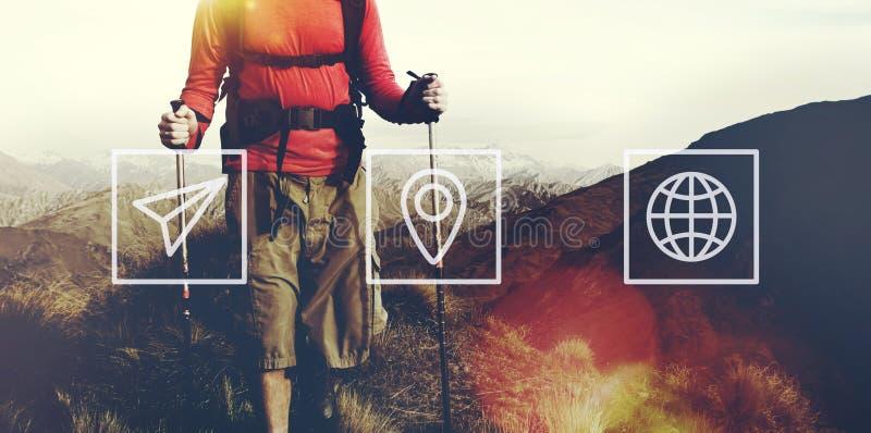 地点航海旅行旅行地方旅途概念 免版税库存图片