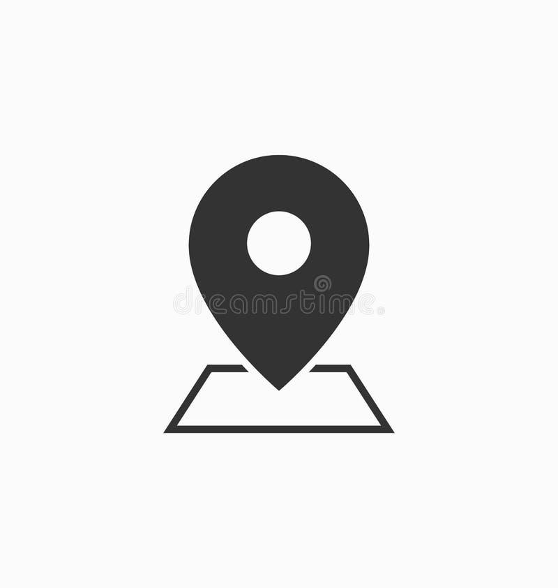 地点象传染媒介标志 免版税库存照片