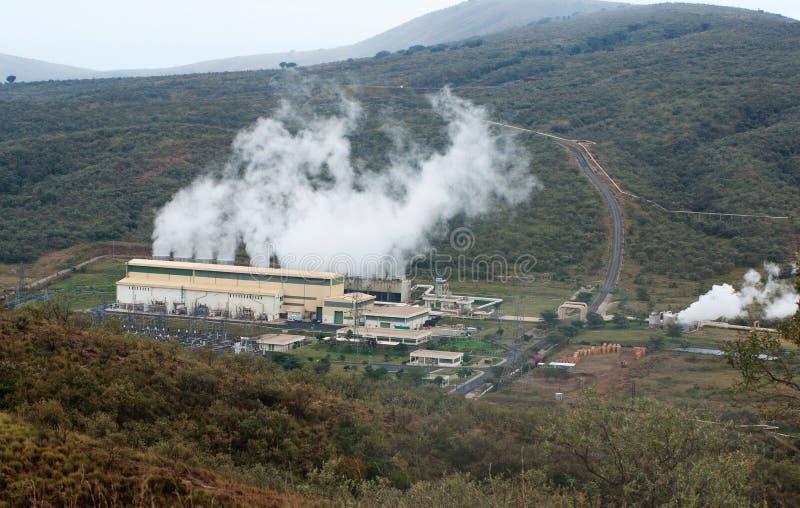 地热能植物在肯尼亚 库存图片