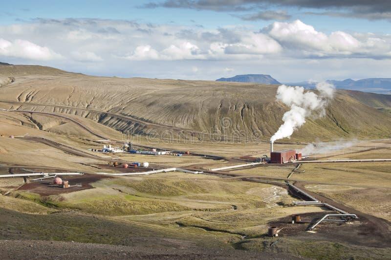 地热能量岗位 库存图片