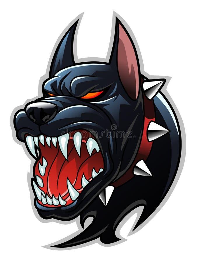 地狱狗头 向量例证