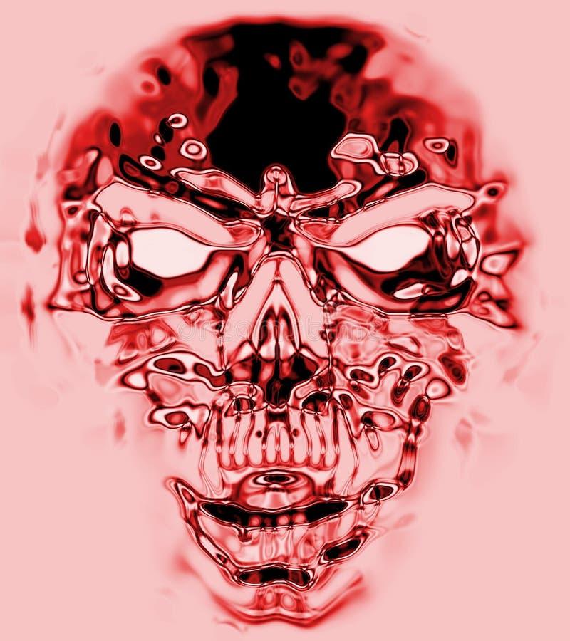 地狱红色头骨 库存例证