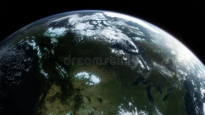 地球、星系和太阳 美国航空航天局装备的这个图象的元素 库存例证